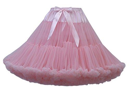 Genou Tulle Pettiskirt Femme Underkirt Pink Lumire Jupe Sous Princesse au Petticoat Jupon Courte Tutu Jupe q8Rwr78t