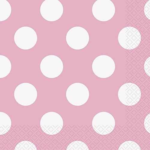 Light Pink Polka Beverage Napkins