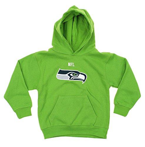 Team Kids Hoodie - NFL Big Boys Youth / Little Boys Kids Team Logo Pullover Hoodie, Various Teams (Seattle Seahawks, Small (4))