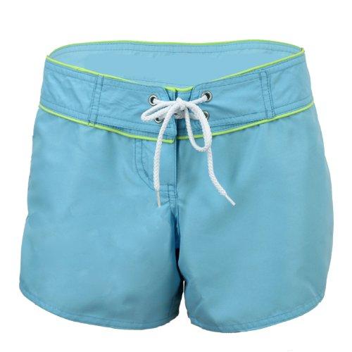 Point Conception Junior's Solid (MPL) Low Waist Hip Riding Boardshort 7 Aqua Solid