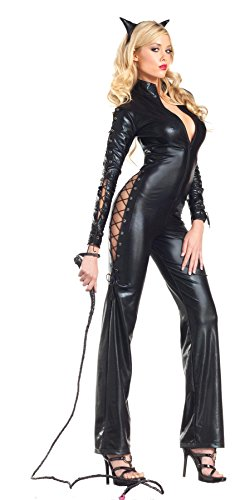Be Wicked Two-Faced Catwoman Costume, Black, Medium/Large
