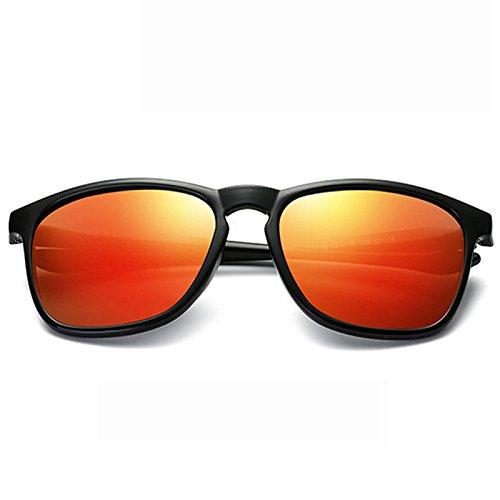 Marco Color Moda Cuadradas Hombre De D Colores Irregular Gafas Polarizadas Gafas GUOHONG Ciclismo Moda De De De CX De Gran D Película Sol para De Sol Ocasionales Gafas a18xTgnxq