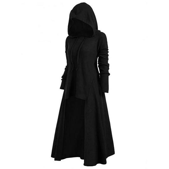 aa8177f119 XiuG Women s Long Sleeve Solid Irregular Hem Loose Hoodies Sweatshirts  Dress Pullover Hooded (Color
