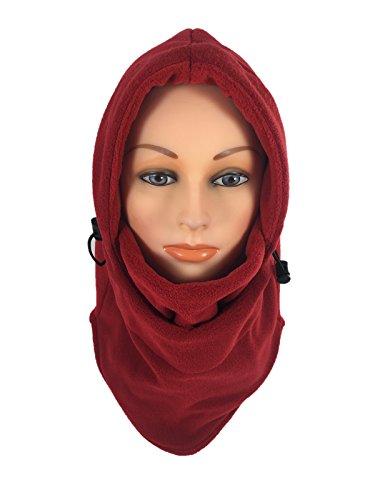 Women's Fleece Balaclava Hooded Face Mask Neck Warmer Ski Hood Snowboard Mask Wind Protector (Dark - For Women Hoods