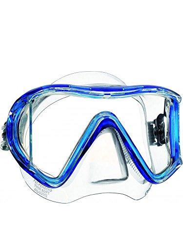 Mares i3 3-Window LiquidSkin Scuba Diving Mask (Clear Blue)