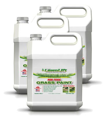 Lawnlift Ultra Concentrated (Green) Grass Paint 3 Gallons = 33 Gallons of Product by LawnLift