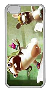 Customized iphone 5C PC Transparent Case - Crazy Rabbids Personalized Cover