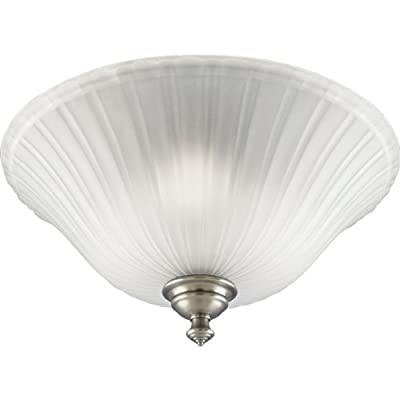Progress Lighting P3515-81 3-Light Close-To-Ceiling with Etched Glass, Antique Nickel