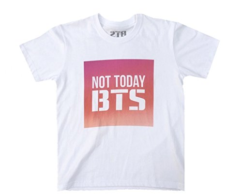 BTS NOT TODAY YOU NEVER WALK ALONE Tshirt Bangtan Boys Shirt White Jimin Suga Jungkook (Medium)