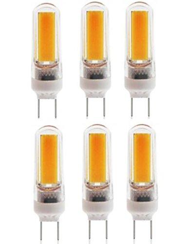 130v 4 Bulbs (Best to Buy 6-pack LED-G8-4W-Corn COB -SHORT-110V-130V Replacement LED Light Bulb-Warm white)