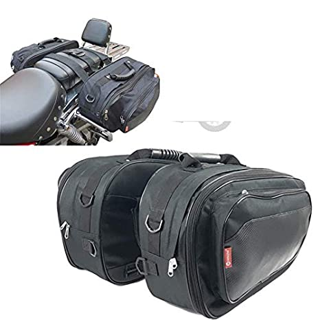 Amazon.com: Motorcycle Side Luggage Locomotive Rider Saddle ...