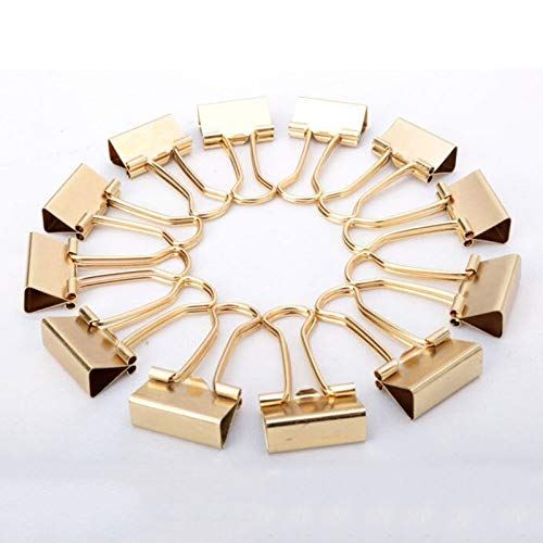 Binchil Gold Binder Clips Schwalben Schwanz Metall Clip Speicher Produkte Metall Binder Clip