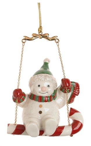 Lenox Swinging Snowman Porcelain Ornament