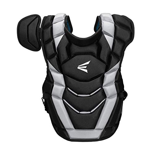 Easton Elite-X Catcher's Chest Protector, Adult, Black/Silver