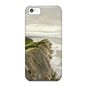 New Arrival Covers Cases With Nice Design For Iphone 5c- House Behind Protective Coastal Cliff