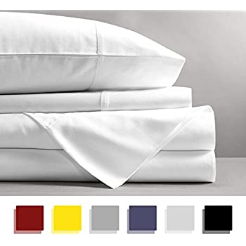 Mayfair Linen 100% EGYPTIAN COTTON Sheets, WHITE QUEEN Sheets Set, 800  THREAD COUNT