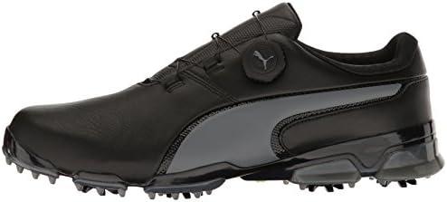 PUMA Men's Titantour Ignite DISC Golf Shoe, Black Quiet