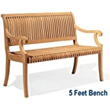 Amazon Com Vifah V1343 Bradley Outdoor Wood Bench