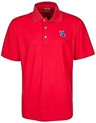 Oxford NCAA Louisiana Tech Bulldogs Men's Micro-Check Golf Polo, Cardinal, Small