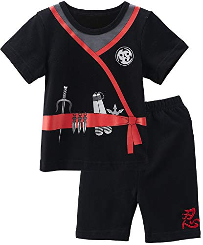 COSLAND Toddler Baby Boys' 2 Pieces Ninja Halloween Costume Shorts Set (18-24 Months)]()
