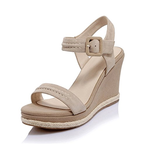 Wedge High Open Sandals Fashion apricot Sexy Women's Dream toed Heels Tvwqpn