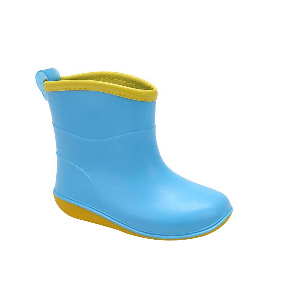SEADOSHOPPING Baby Girls PVC Half Ankle Shoes Boots for Kids Blue