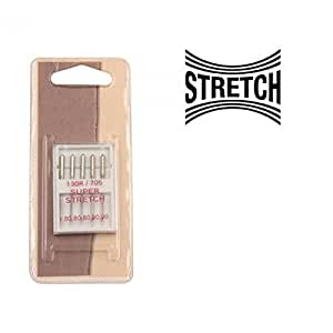 5 agujas para tejidos elásticos 130R X 705 para máquina de coser: Amazon.es: Hogar