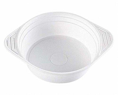 100 Stk. Suppenterrine Suppenteller 500ml, PS, 8 gr, Mikrowellentauglich, weiß