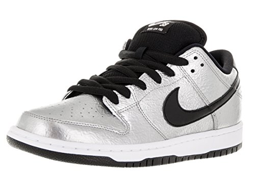 Nike Dunk Premium Sb (Nike Men's Dunk Low Premium SB Metallic Silver/Black/White Skate Shoe 9.5 Men US)