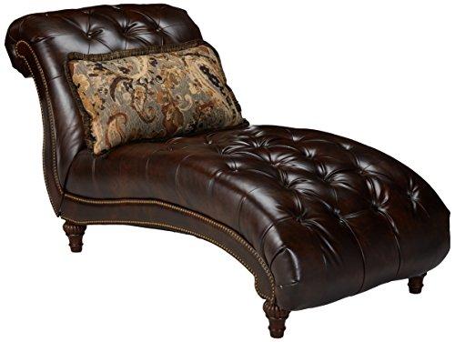 Ashley Furniture Signature Design - Winnsboro Chaise - Traditional - Vintage Brown (Lounge Designs Cottage)