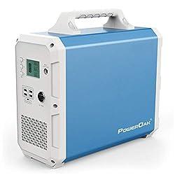 PowerOak 1500Wh / 1000W Tragbare Stromversorgung Solargenerator Notstromstation 2 * 230V AC,1 DC-Port (12V-9A),1 PD 45W…