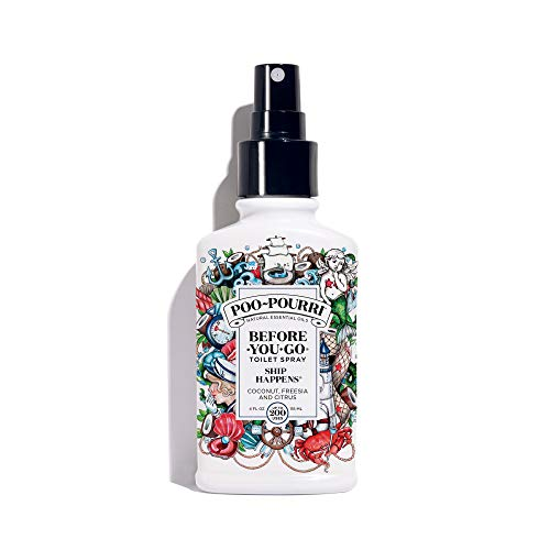 Poo-Pourri Before-You-Go Toilet Spray 4 oz Bottle, Ship Happens Scent