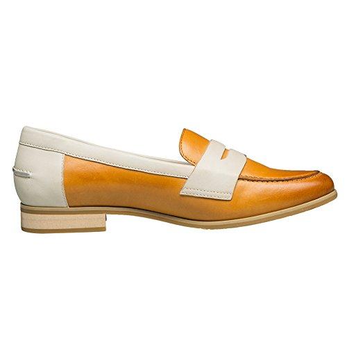 Shoes Shallow Low Slip Sheepskin Heel Mouth On Yellow KANGNAI Women's Pump Comfort wq0xtEXv