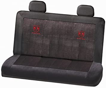Plasticolor 008624R01 Dodge Ram Logo Universal Fit Car Truck or SUV Sideless 3-Piece Seat Cover w//Head Rest