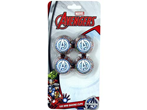 100 Count Avengers Mini Cupcake Liners - Pack of 72 by bulk buys