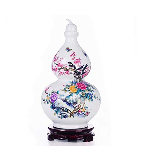 YINJIESHAGNMAO Flagon, Jingdezhen Five-pound Ceramic Bottle Liquor Wine 2.5kg Sealed Hand-painted Gourd Wine Sealed White Wine Jar, sleek minimalist (PATTERN : C, Size : 181828cm)