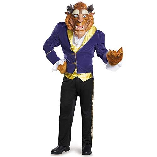 Disney Men's Plus Size Beauty Beast Ultra Prestige Costume Faux Fur, Blue, XX-Large