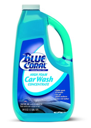 Blue Coral WC107G High Foam Car Wash Concentrate, 64 -