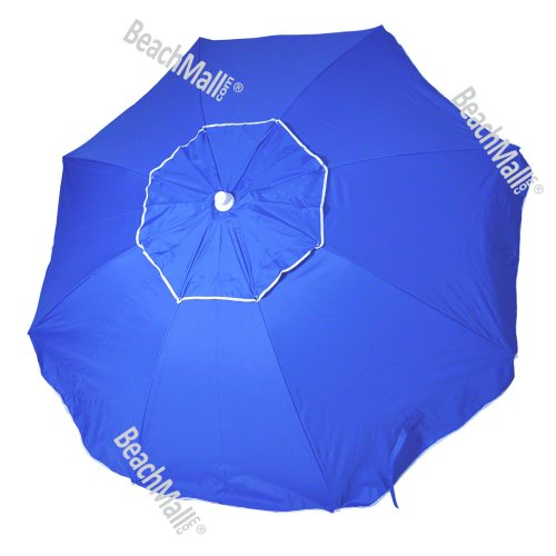 6.5ft Rio Beach Umbrella UPF 100+ with integrated Sand Anchor, Outdoor Stuffs