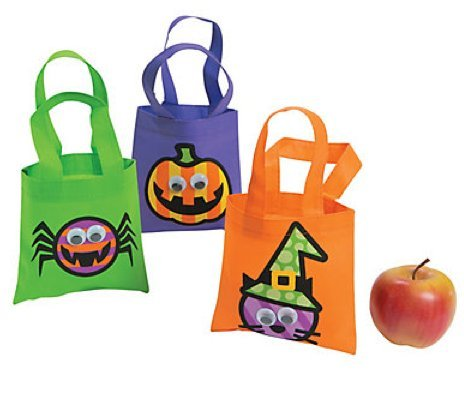 3 Pack Mini Halloween Googly Eye Halloween Totes 6