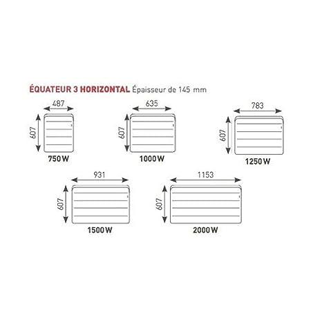 Blanc Horizontal Radiateur /Équateur 3 1000W