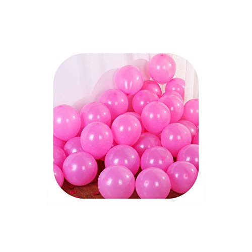 Cherryran Balloons 10Pcs 12Inch 5Inch Happy Birthday Baloon Wedding Decoration Party Supplies,Matte D26 Pink,2.2G 10Inch Balloon -