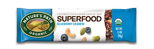 (Nature's Path Organic Qi'a Gluten-Free Superfood Snack Bar, Blueberry/Cashew/Pumpkin Seed, 6 Count)