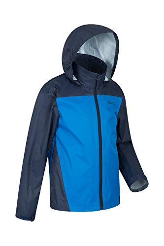 for Hook Jacket Ripstop Resistant Warehouse Coat for Camping Kids Hood Summer Childrens Mountain Loop Tidal Trench Travelling Coat Jacket Cuffs Blue Adjustable amp; Water amp; w7n0Zq