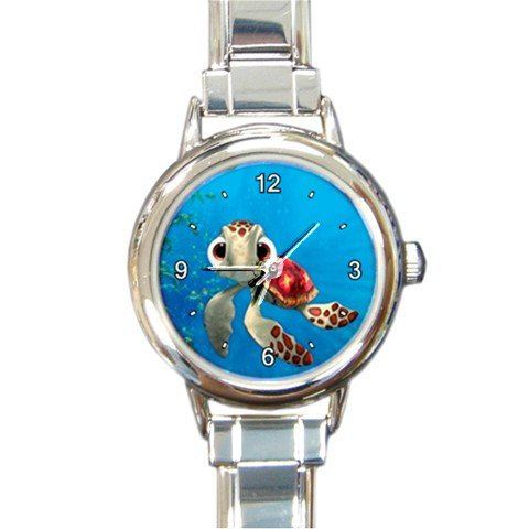 finding-nemo-squirt-custom-design-round-italian-charm-watch-special-edition