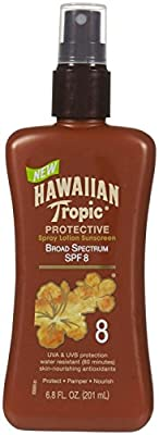 Hawaiian Tropic Protective Tanning Pump Lotion, SPF 8, 6.8 fl oz