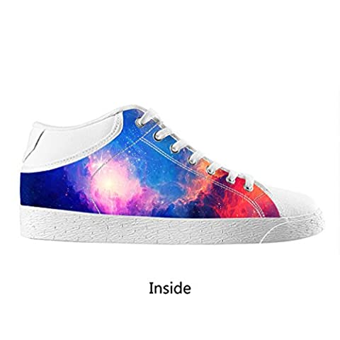 DONGMEN Custom Men's Exquisite Star Lace up Chukka Sneakers Canvas Shoes US8