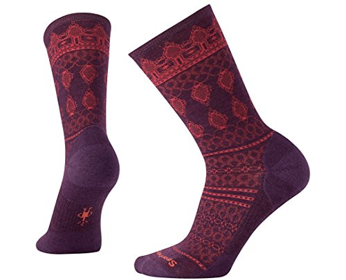 Smartwool Women's Lacet Crew Socks (Bordeaux Heather) Large