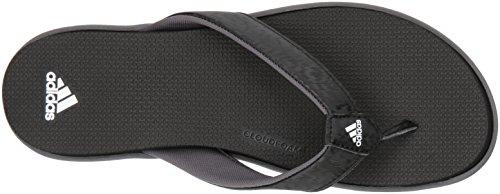 Adidas Donna Comfort B Flip Flop Sport Sandalo Core Nero, Bianco, Grigio Quattro Tessuto