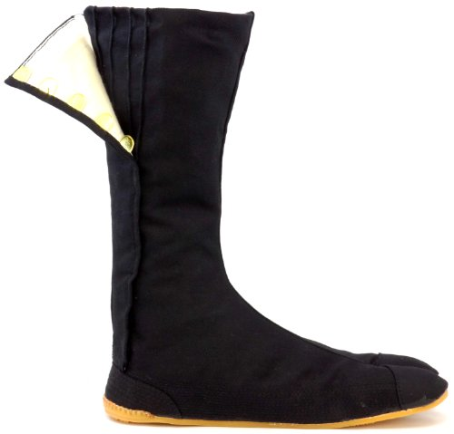Ninja Shoes, Jikatabi, Rikkio Tabi Boots(US 5~12) Black / White!! +Travel bag (US 8 (26cm), Black) (japan import)